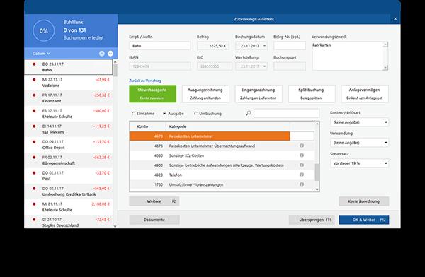 Belege und Zahlungen verwalten in der Bürosoftware MeinBüro