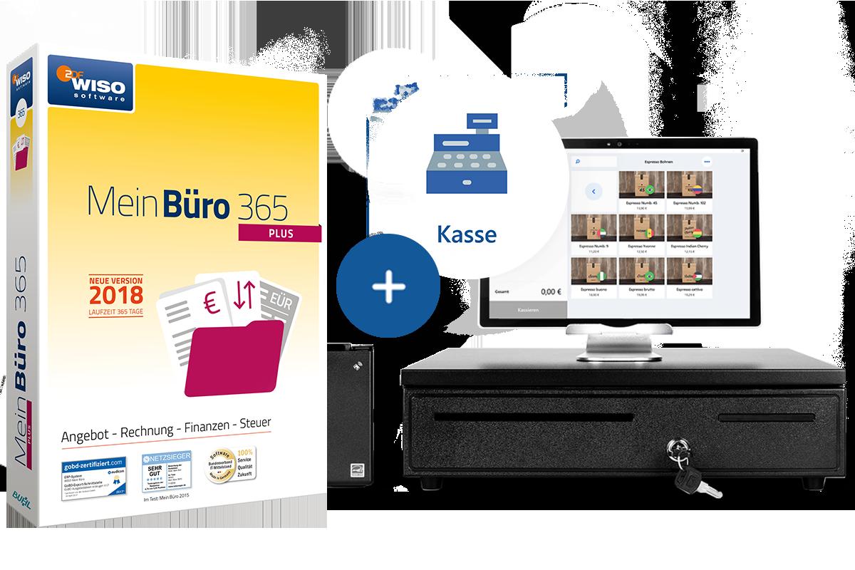 Das Kassenpaket von MeinBüro. Werden Sie mit dem Modul Kasse zum Verkaufsprofi am POS