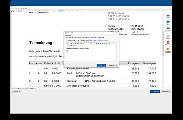 Dokumentenbearbeitung Angebote und Rechnungen in WISO Mein Büro