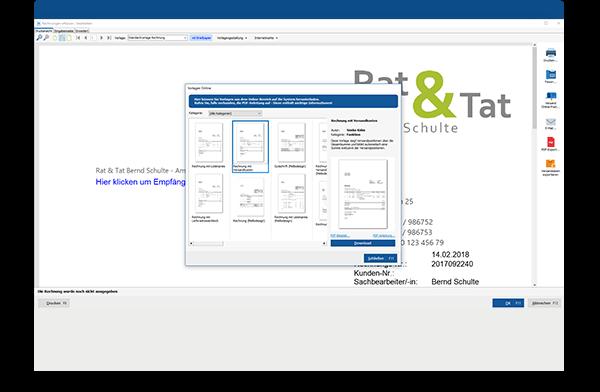 Online-Vorlagen für Angebote und Rechnungen in WISO Mein Büro