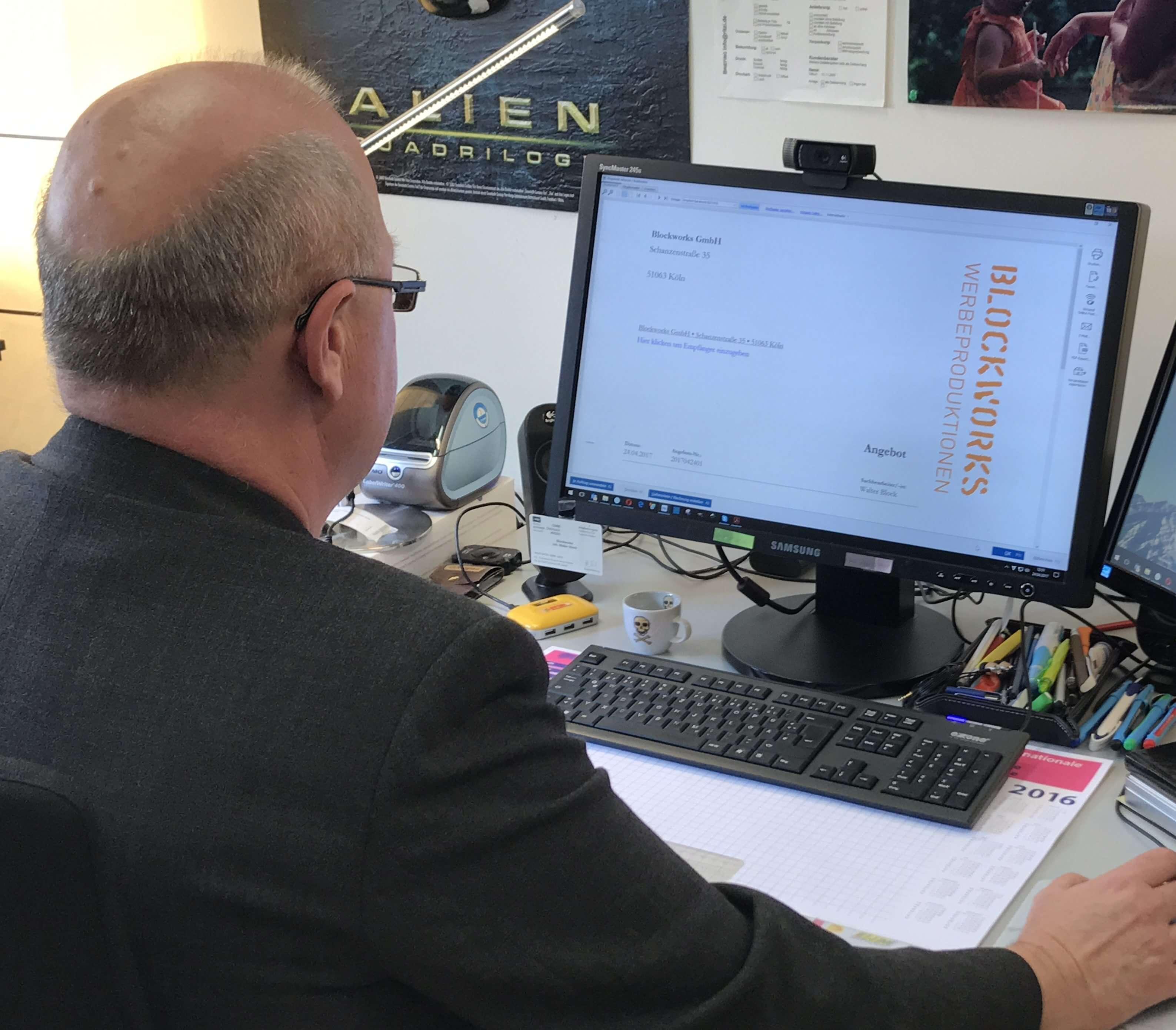 Walter Block von blockworks in Köln arbeitet mit WISO Mein Büro