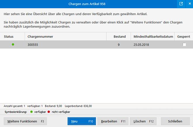 Chargen- und Seriennummern verwalten - Mit MeinBüro und dem Modul Lager