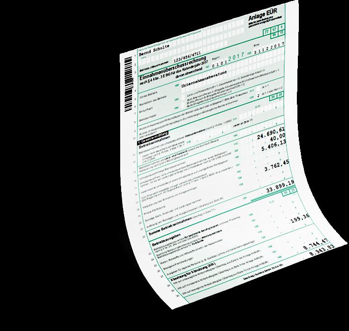Einnahmenüberschussformular