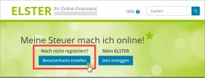 Elster Online Benutzerkonto anlegen