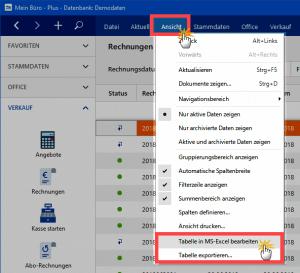 Daten Excel-Export