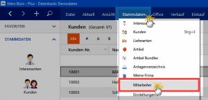 Mitarbeiter-Stammdaten in WISO MeinBüro