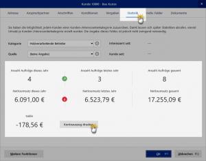 Stammdaten Kunden Statistik MeinBüro
