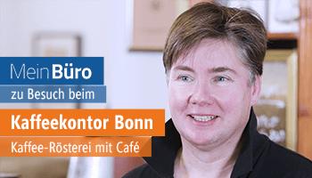 MeinBüro zu Besuch bei Kaffeekontor in Bonn für eine Kundenstimme