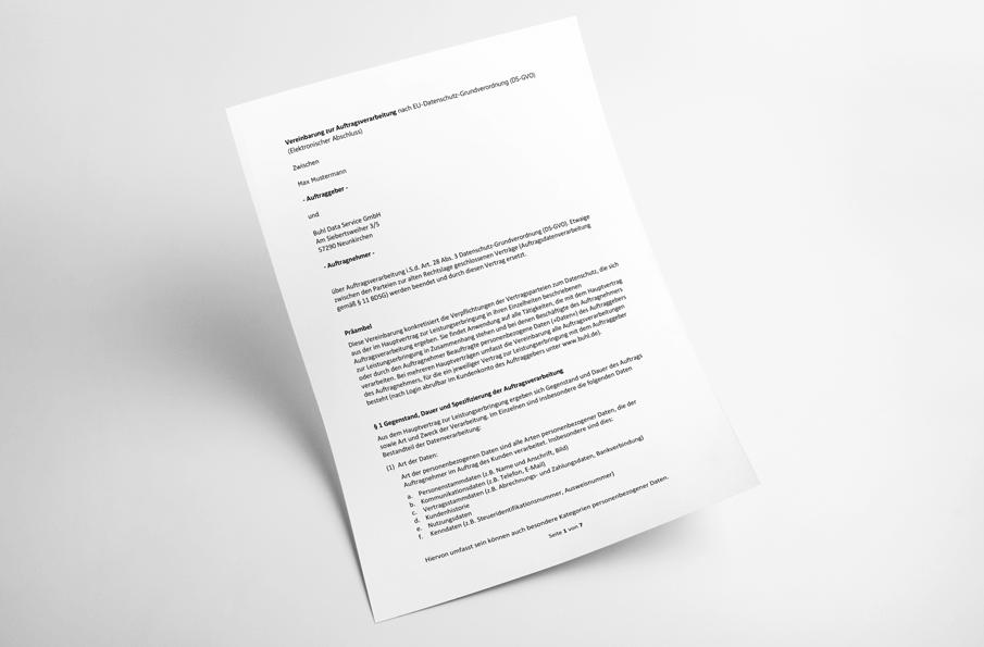 Muster-Auftragsverarbeitungsvertrag mit MeinBüro
