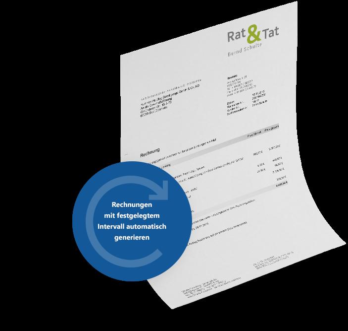 Rechnungen automatisch generieren mit MeinBüro und dem Modul Verträge