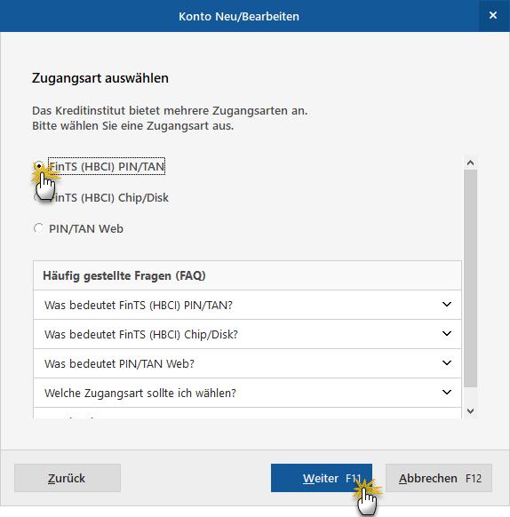 Drei Zugangsarten | MeinBüro Bürosoftware
