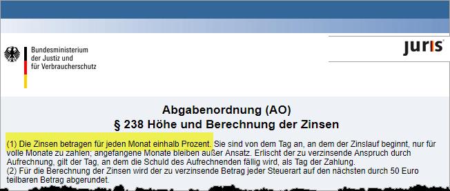§ 238 Abgabenordnung