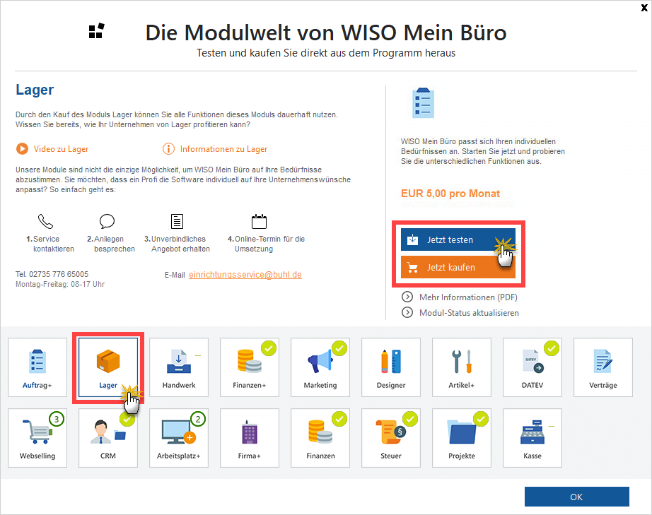 Modulwelt MeinBüro