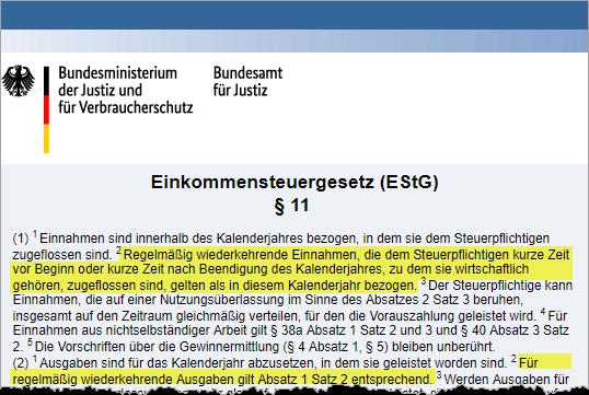 § 11 EStG: Grauzone beim Jahreswechsel