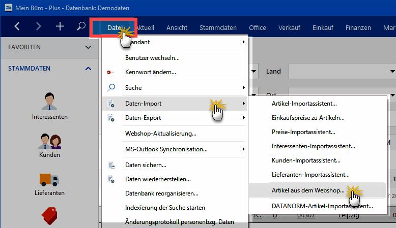 Webshop Import