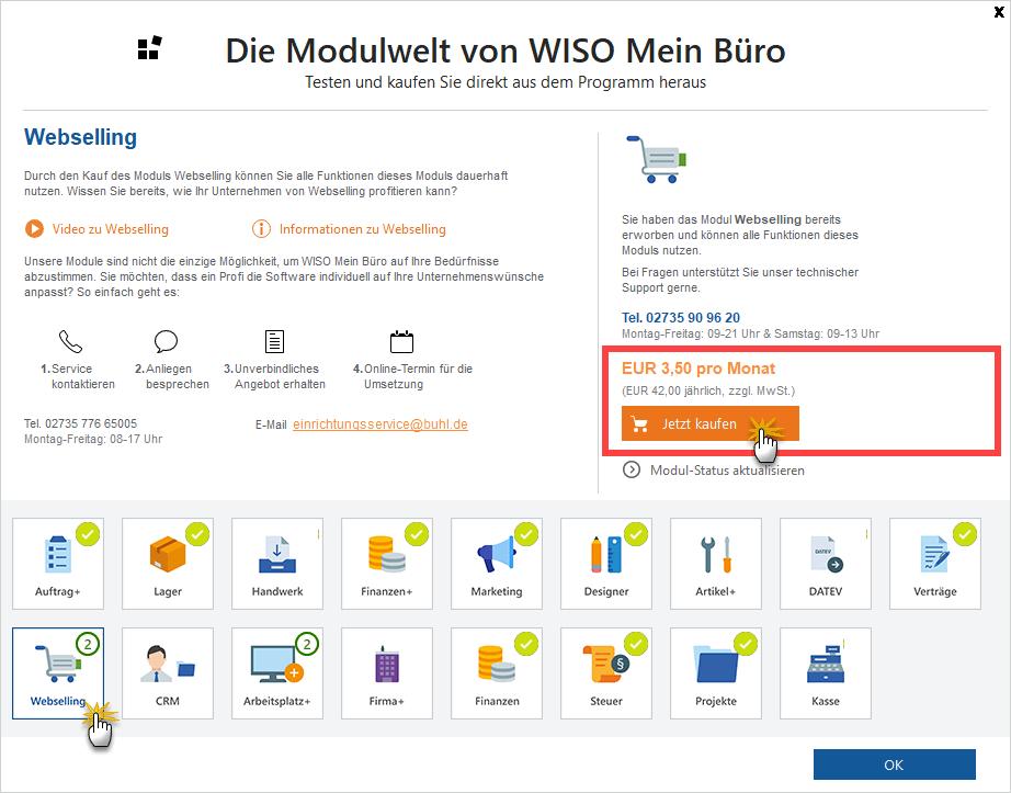 Webshop Modultest