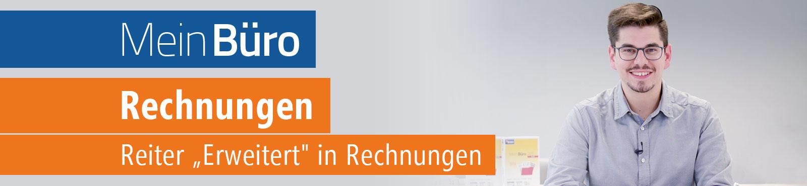 """MeinBüro-Video-Tutorial: Reiter """"Erweitert"""" in Rechnungen"""