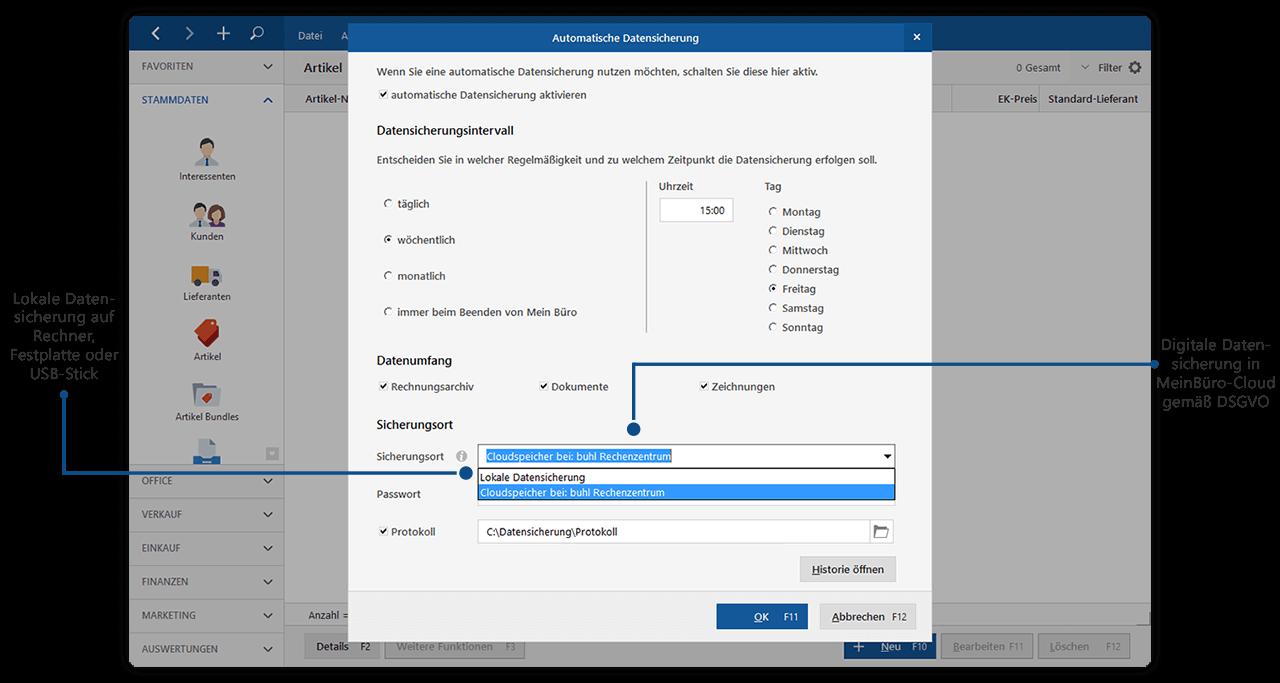 Automatische Datensicherung mit Sicherung+