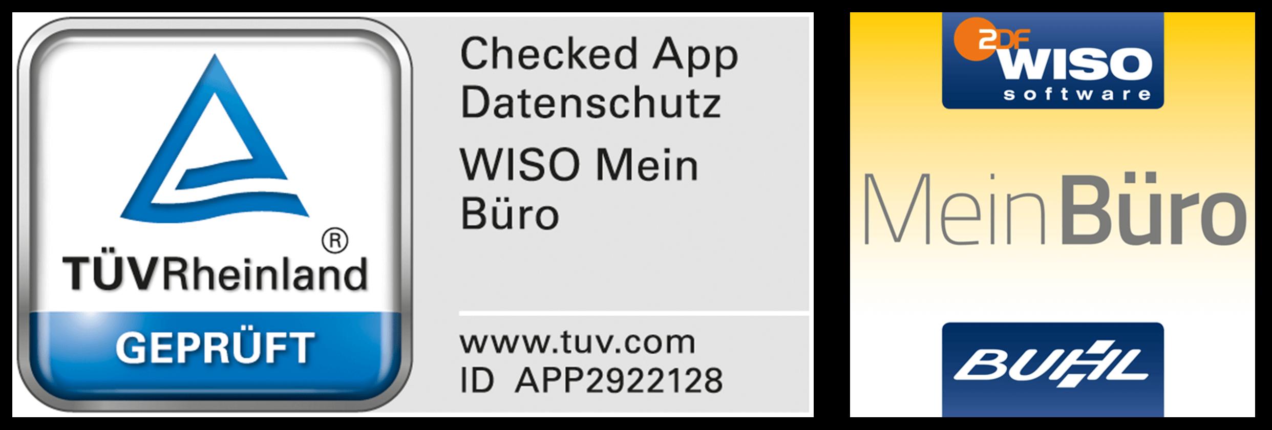 Die MeinBuero App wurde vom TUEV Rheinland zertifiziert