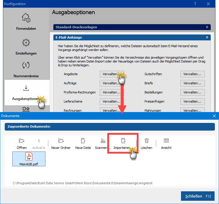 AGB für E-Mail-Anhänge