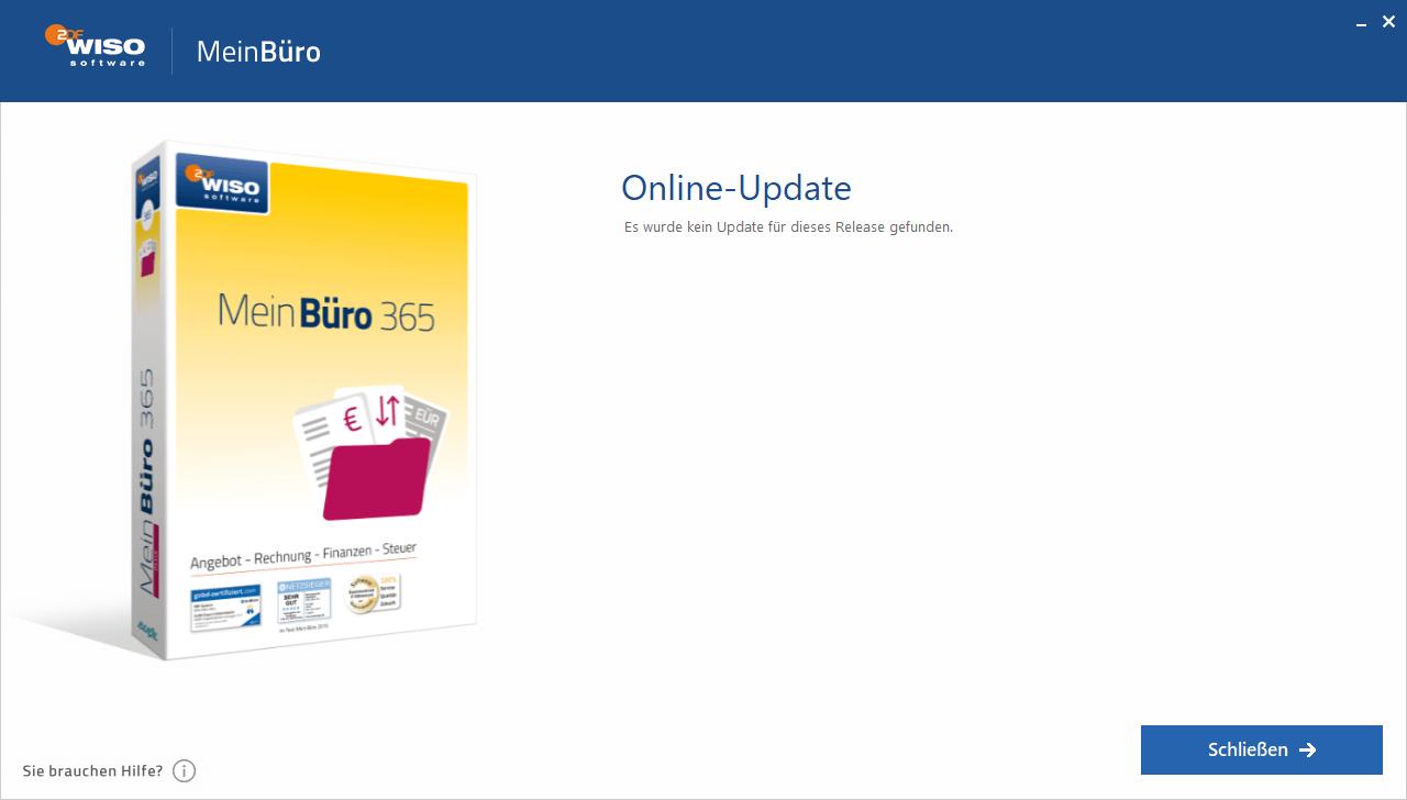 Prüfung auf Online-Updates
