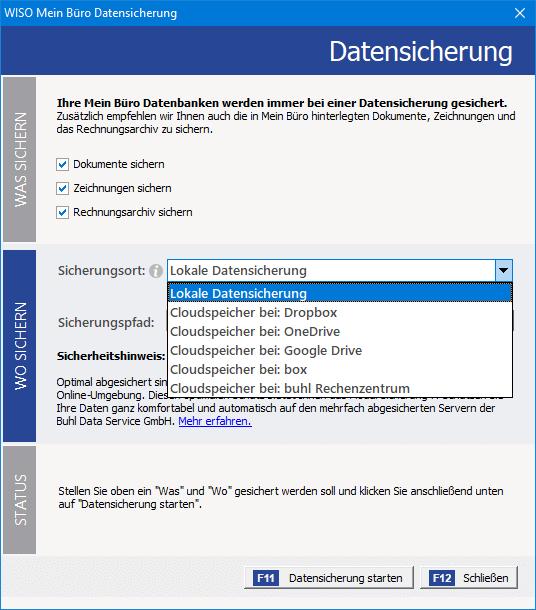 Software für Gründer: Datensicherung mit MeinBüro