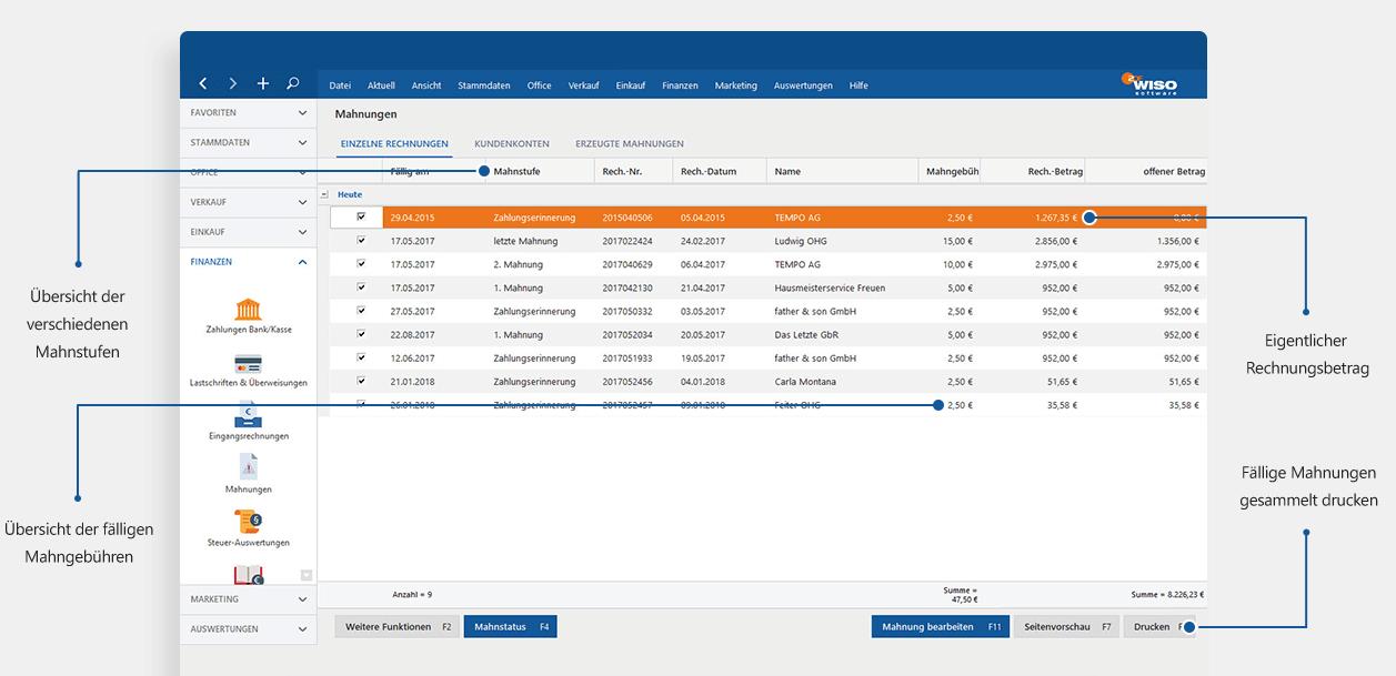 Software für Gründer: Mahnungen mit MeinBüro