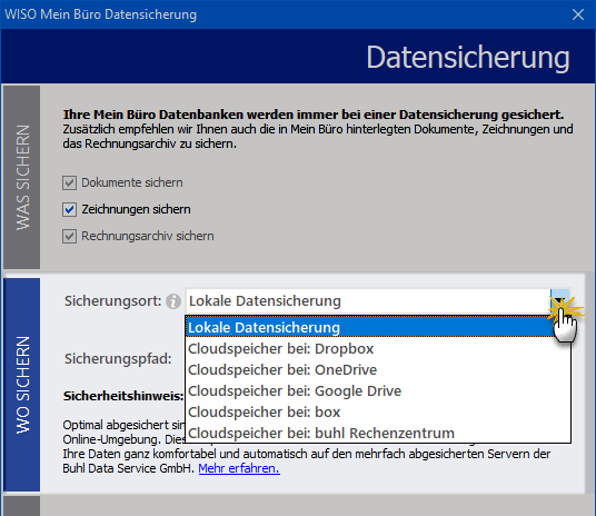 Datensicherung Cloud