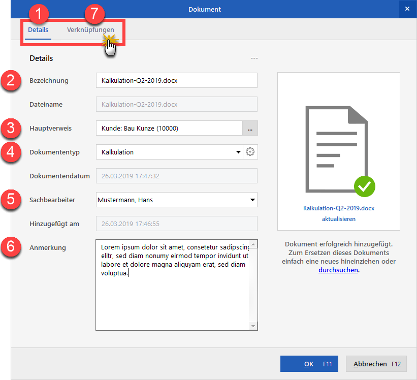 Dokumentenübersicht