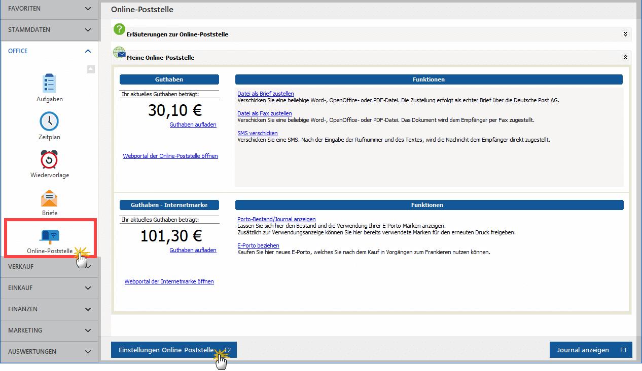 Online-Poststelle