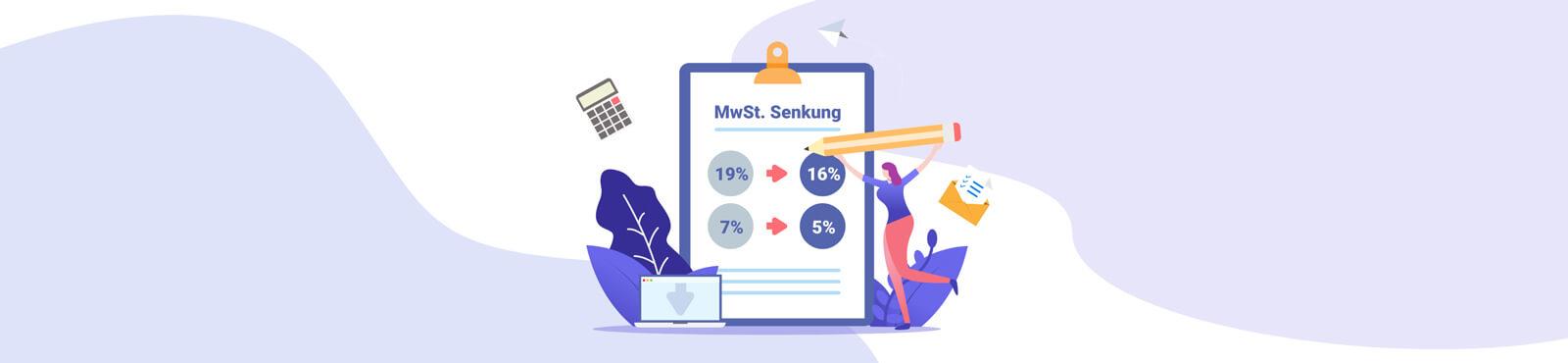 MeinBüro-Update: Befristete Mehrwertsteuersenkung