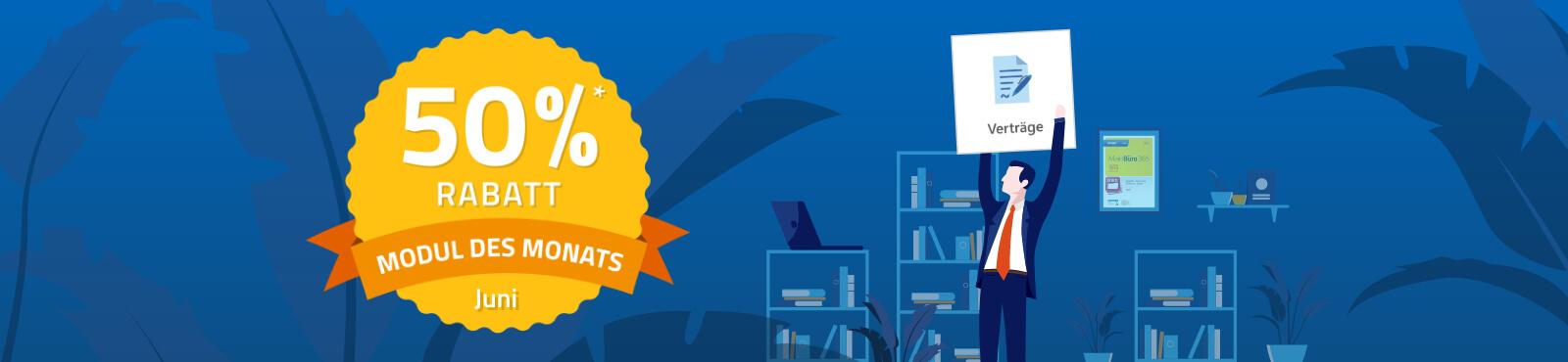 Modul des Monats: Profi-Vertragsmanagement zum halben Preis