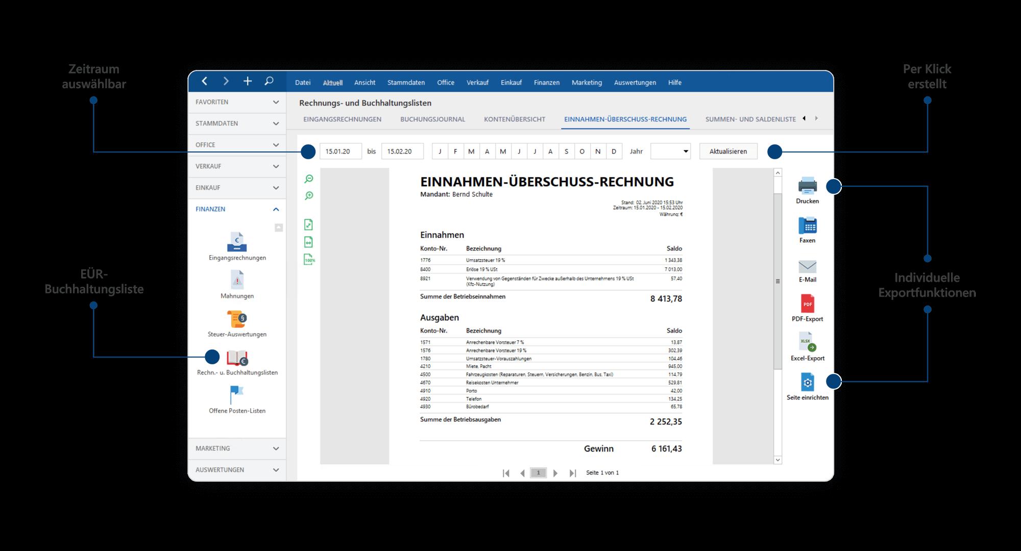 Rechnungen direkt in der Druckansicht schreiben | Rechnungsprogramm MeinBüro
