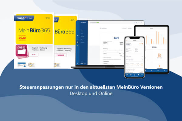 MwSt.-Senkung für MeinBüro und MeinBüro Online