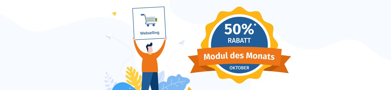 Modul des Monats: Webselling zum halben Preis