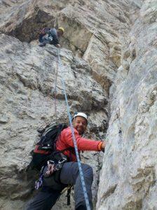 Alpenvereins-Mitglieder auf Kletter-Tour
