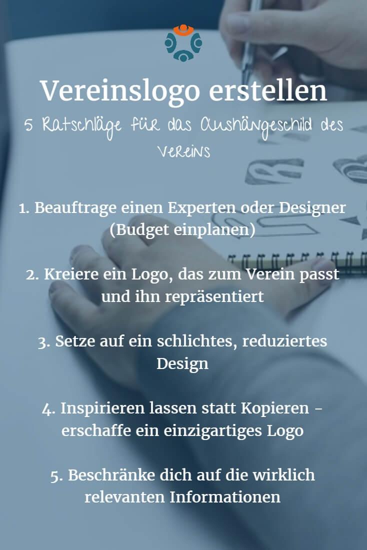 Infografik: 5 Ratschläge für das Vereinslogo - Vereinslogo erstellen