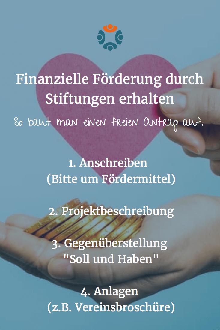 Grafik: Finanzielle Förderung durch Stiftungen - MeinVerein - Stiftungsgelder beantragen