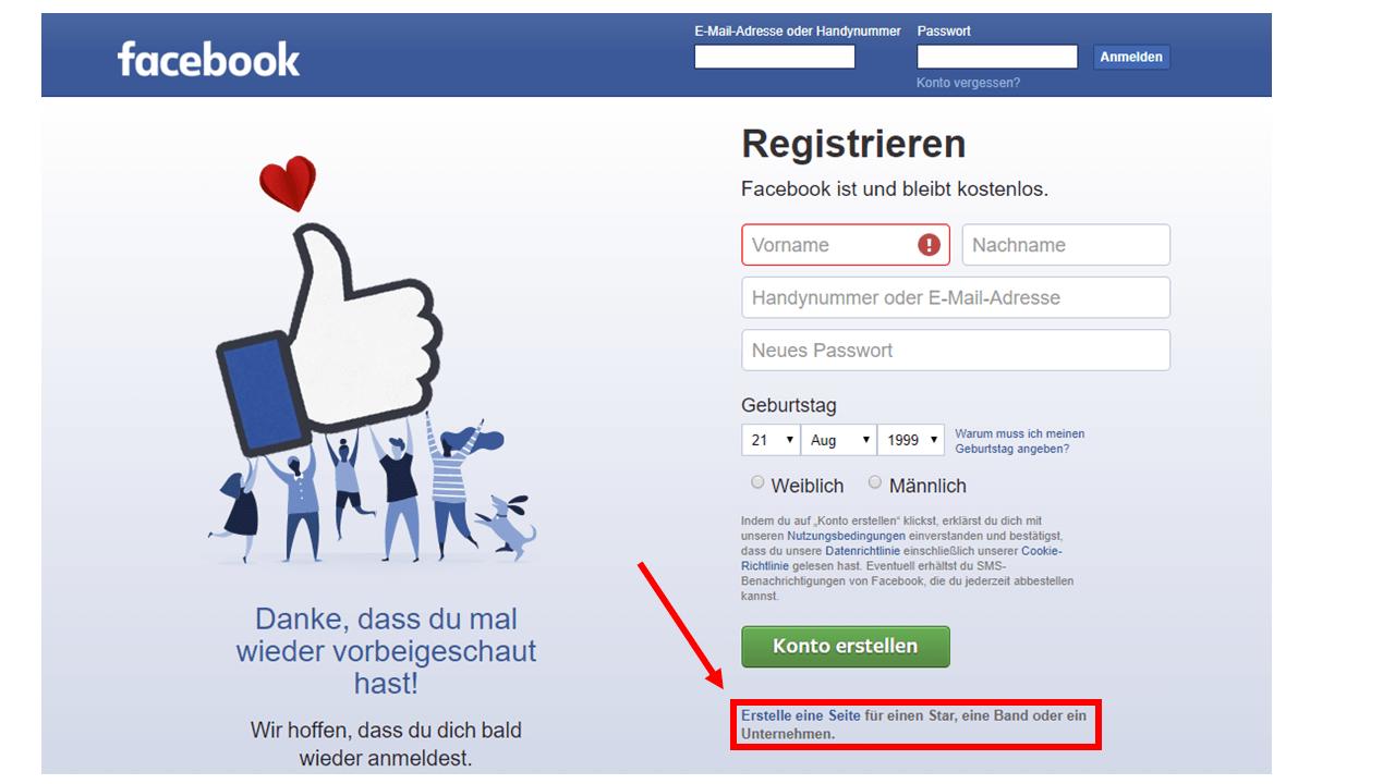 Facebook: Eine eigene Facebook Seite für den Verein erstellen. In diesem Tutorial zeigen wir dir, wie es funktioniert.