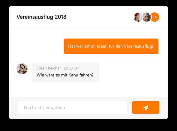 Nachrichten an Vereinsmitglieder schreiben mit MeinVerein, der smarten Vereinsverwaltung.