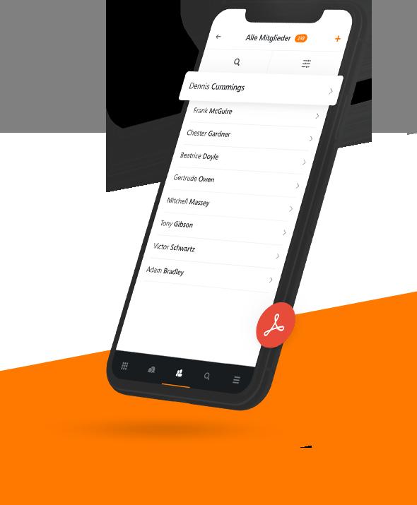 Verein auf dem Smartphone verwalten mit MeinVerein, der smarten Vereinsverwaltung.