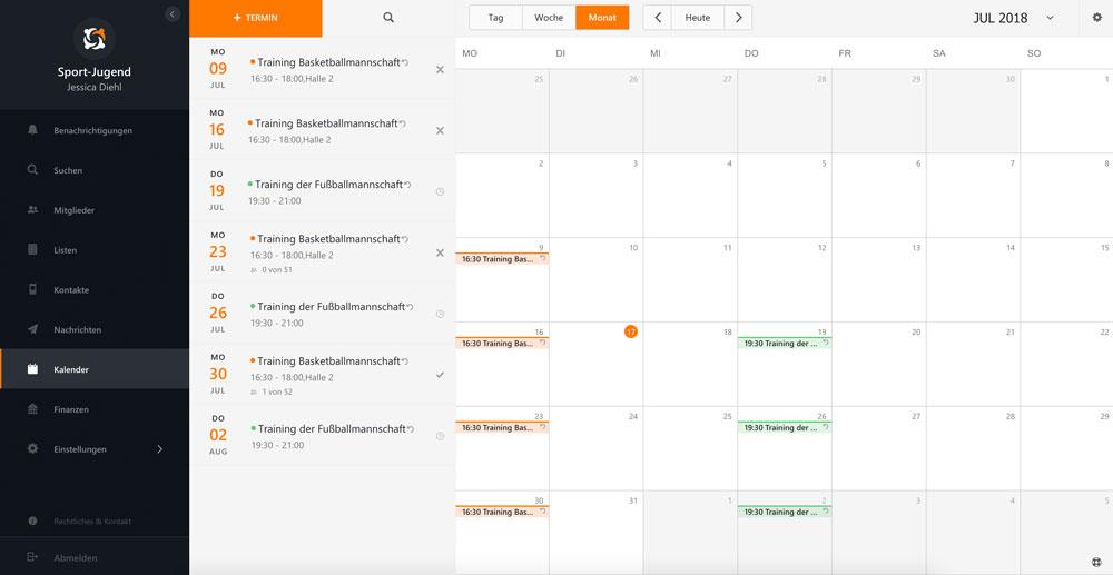 MEINVEREIN Tutorial: 3 nützliche Tools im Kalender