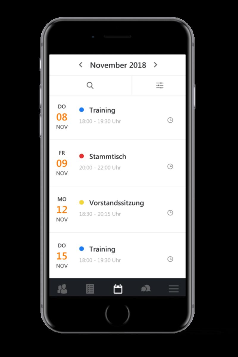 Mein Verein Kalender mobil