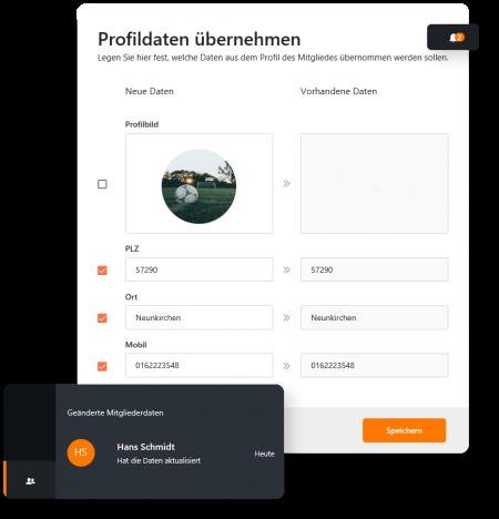 Profildatenübernahme