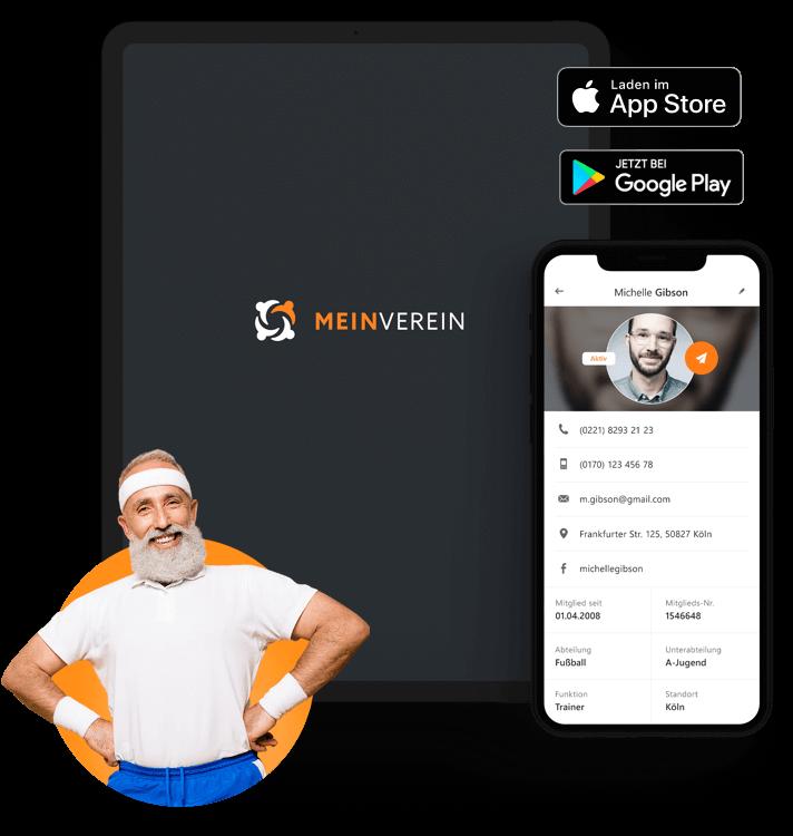 Die MEINVEREIN Mobile App für Smartphone und Tablet