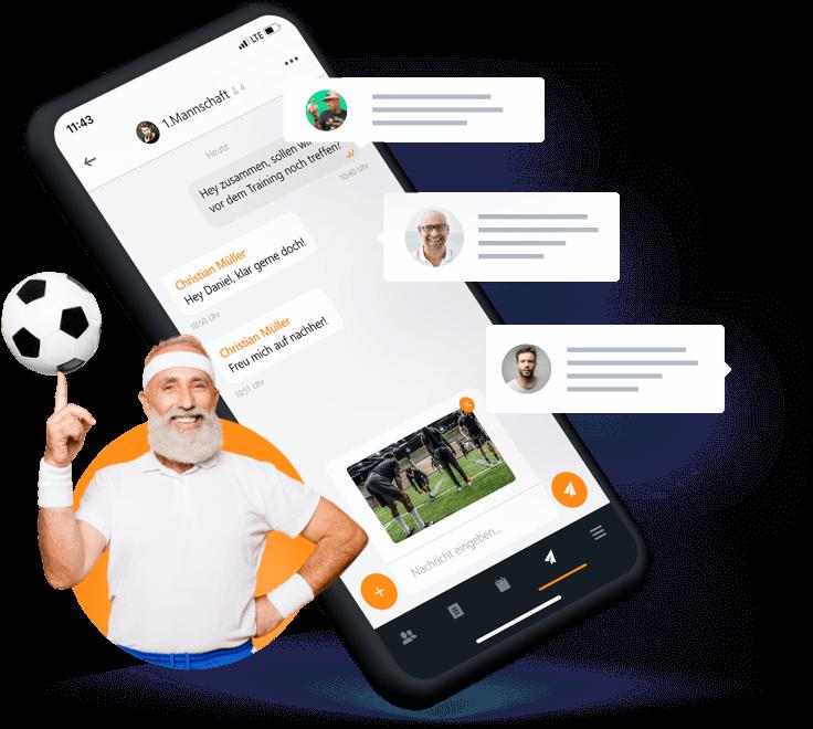 Smartphone mit MEINVEREIN Mobile App