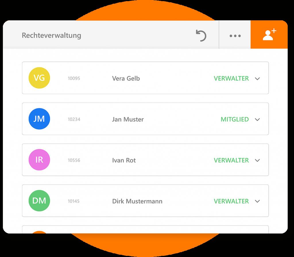 Nutzer können verschiedene Rollen und Berechtigungen haben