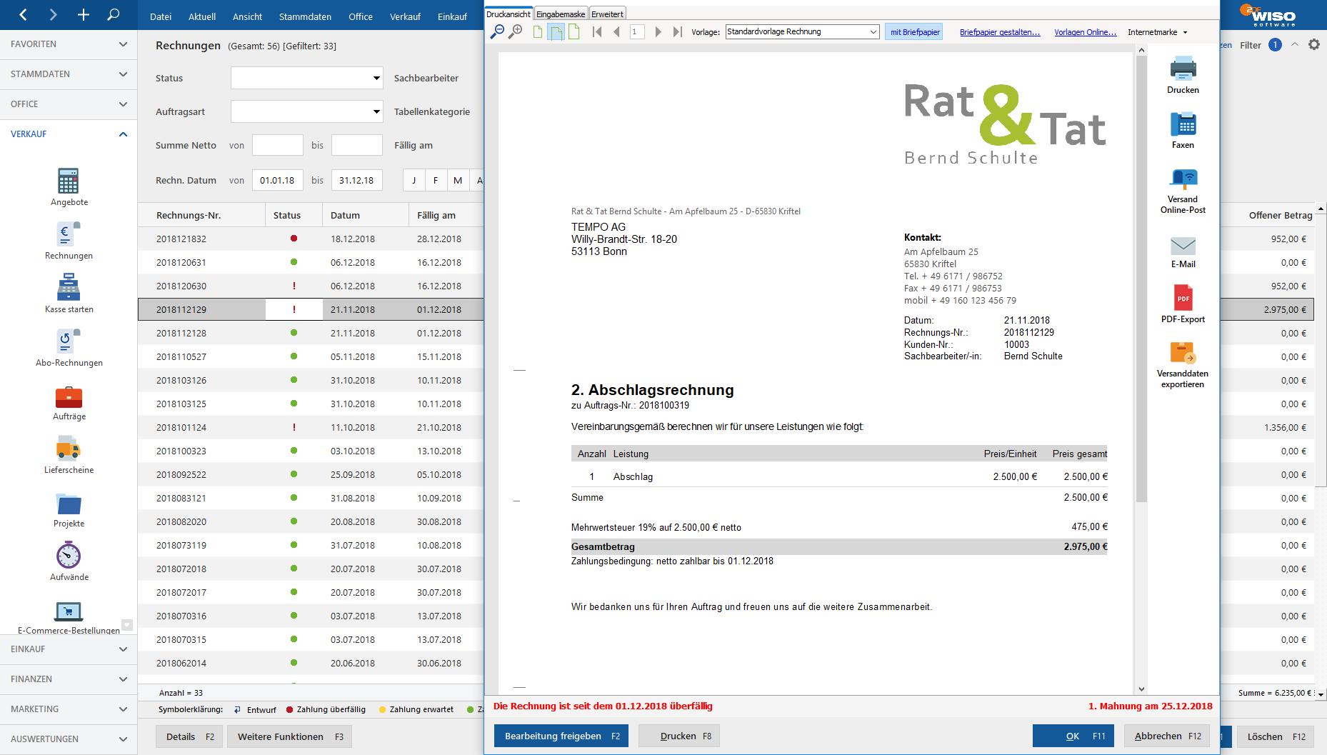 Angebote Rechnungen Finanzen Im Blick Mit Wiso Mein Büro 365 Standard