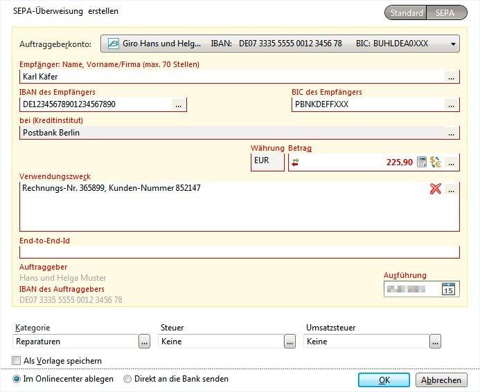 WISO Konto Online bietet die bekannten Überweisungsformulare. Wie Sie es von Ihrer Bank gewohnt sind.