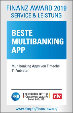 Beste Multibanking App Siegel